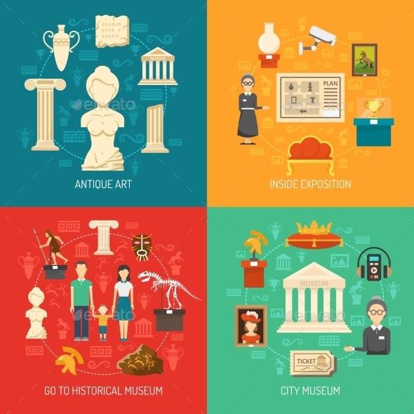 Museum 2X2 Design Concept - Decorative Symbols Decorative