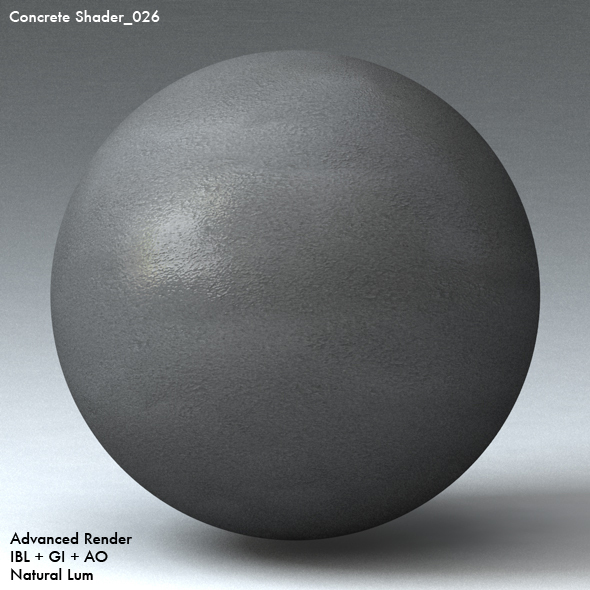 Concrete Shader_026 - 3DOcean Item for Sale