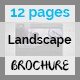 Simple Landscape Brochure Indesign Template – 12 Page  - GraphicRiver Item for Sale