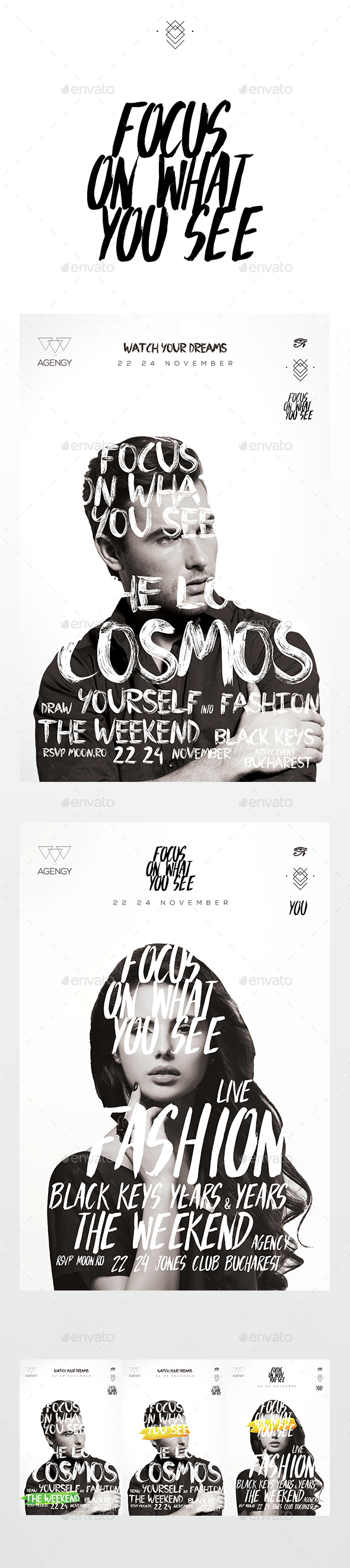 Fashionist Flyer - Clubs & Parties Events