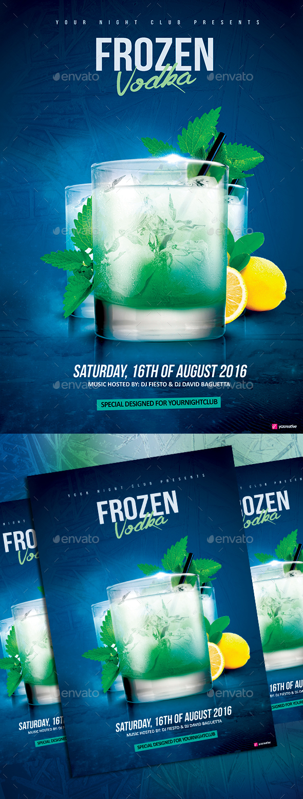 Frozen Vodka Drink - Clubs & Parties Events