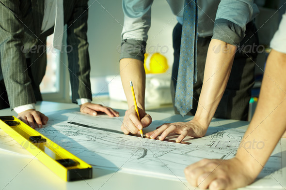 Architects at work - Stock Photo - Images