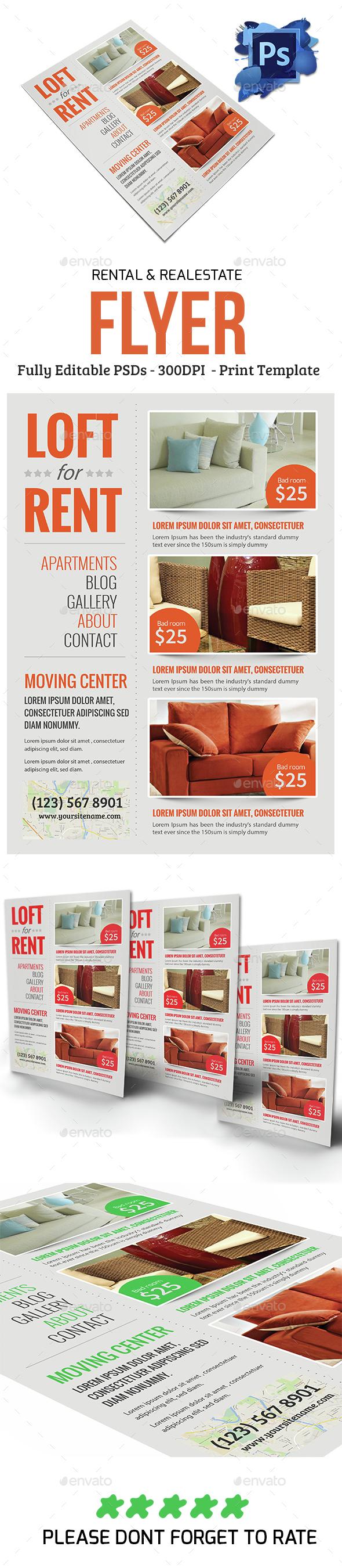 Real estate & Rental Flyer - Flyers Print Templates