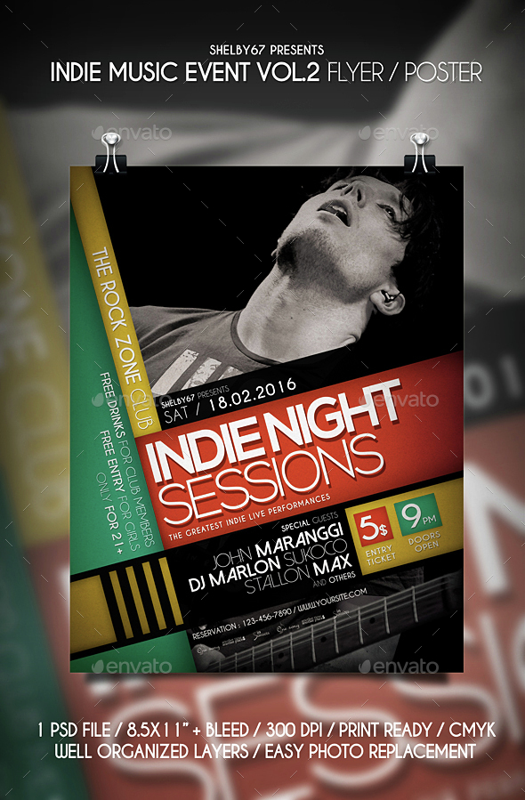 Indie Music Event Flyer / Poster Vol 2 - Events Flyers