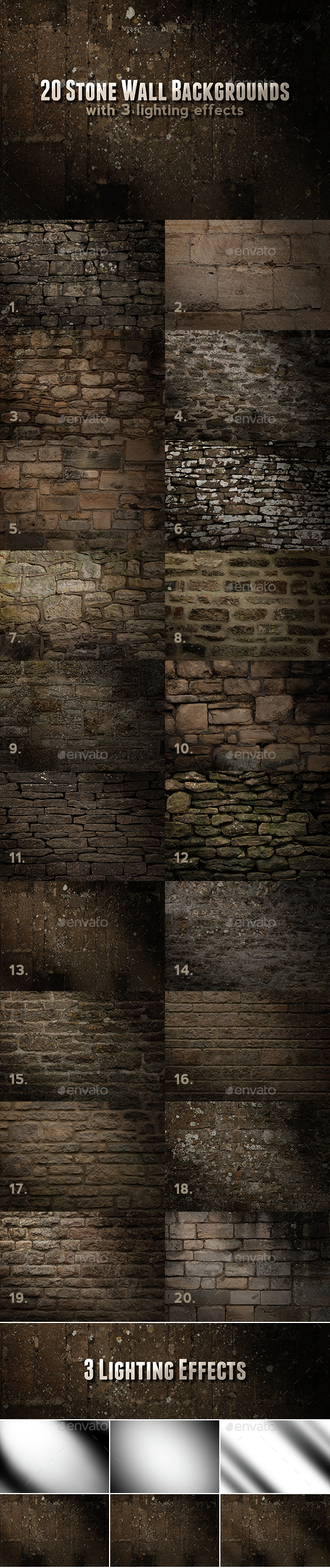 Stone Wall Backgrounds - Stone Textures