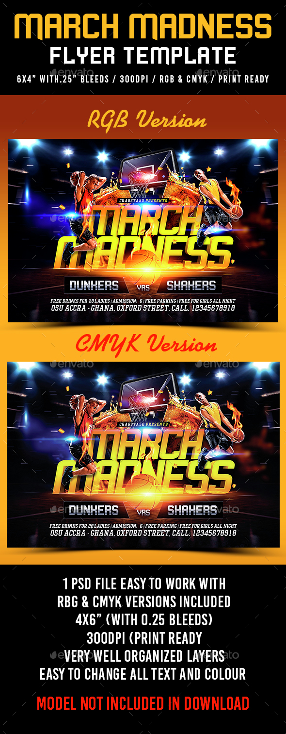 March Madness Flyer Template - Sports Events