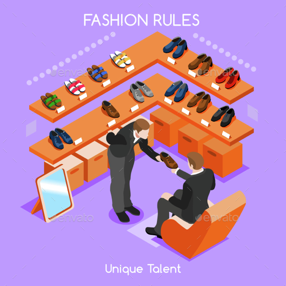 Fashion Moods 02 People Isometric - Commercial / Shopping Conceptual