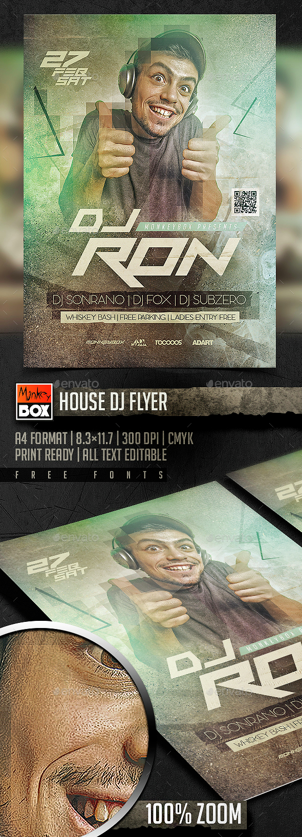 House Dj Flyer - Clubs & Parties Events