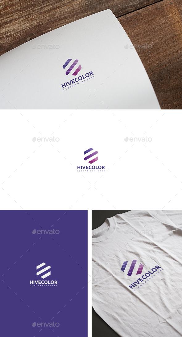 Hive Color Logo - Abstract Logo Templates