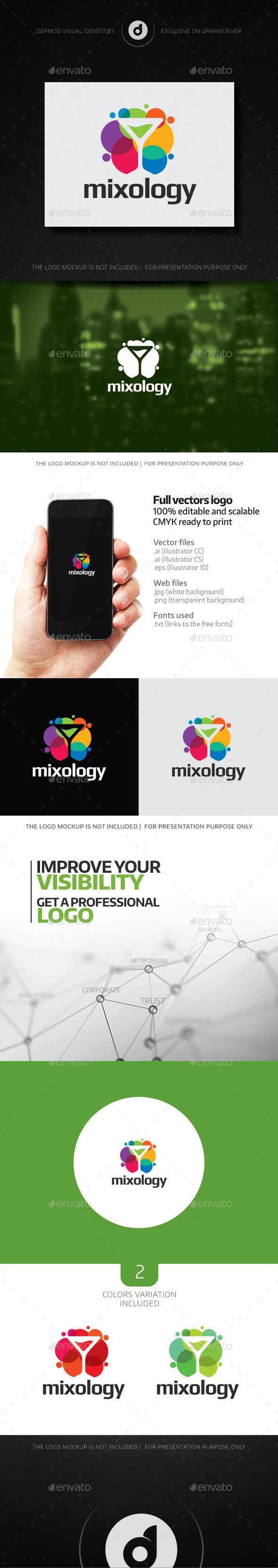 Mixology Logo - Objects Logo Templates
