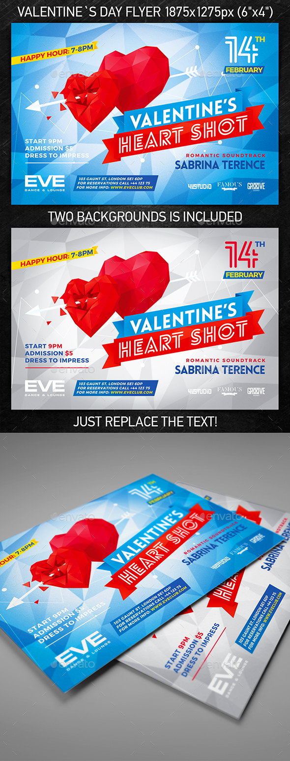 Valentine`s Day Party Flyer vol.3 - Events Flyers