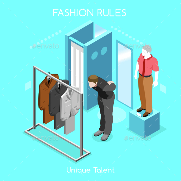 Fashion Moods 04 People Isometric - Retail Commercial / Shopping