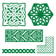 Celtic Irish Green Patterns and Knots - GraphicRiver Item for Sale