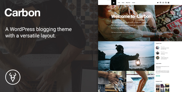Carbon, A WordPress Theme with Versatile Layout