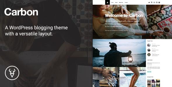Carbon, A WordPress Theme with Versatile Layout