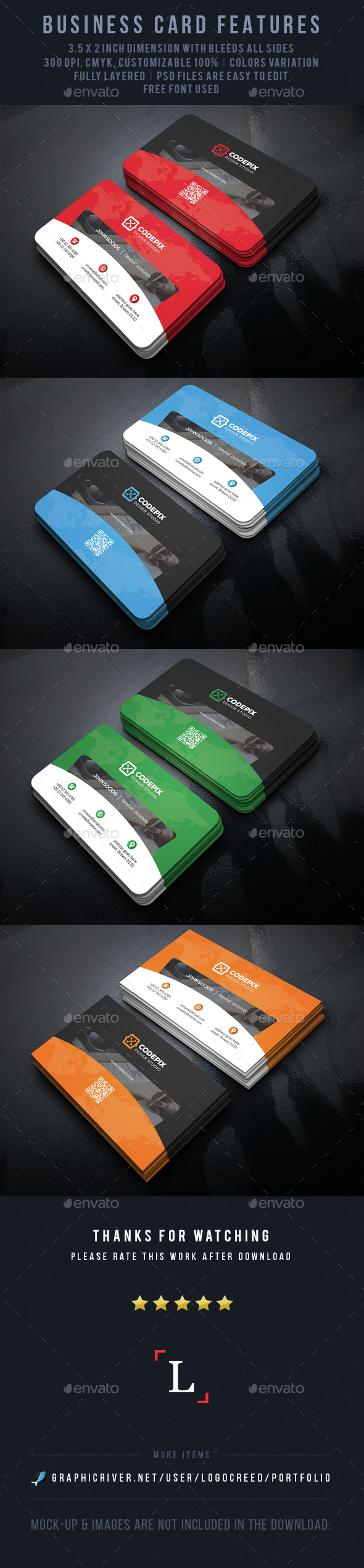 Shade Business Card - Business Cards Print Templates