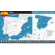 Spain Infographic Map Illustration - GraphicRiver Item for Sale