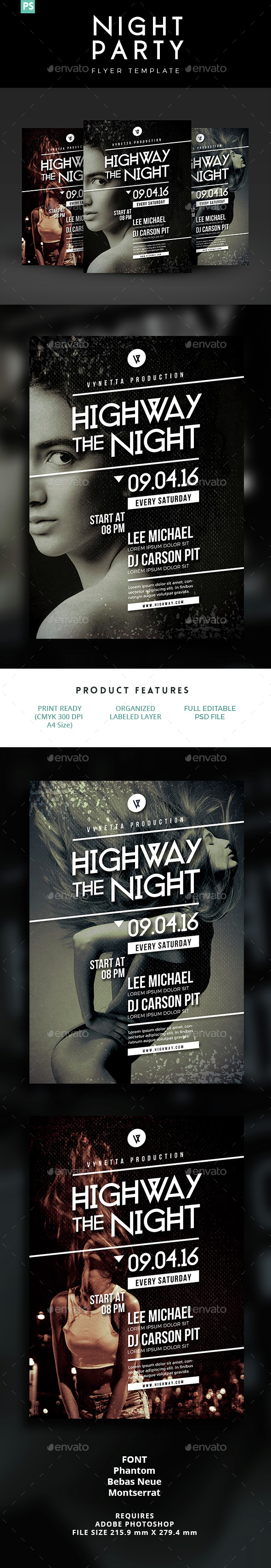 Night Party Flyer / Poster - Clubs & Parties Events