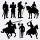 Man and Woman Activity Silhouettes - GraphicRiver Item for Sale
