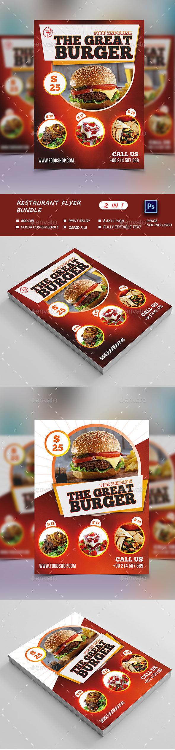Restaurant Flyer Bundle  - Restaurant Flyers