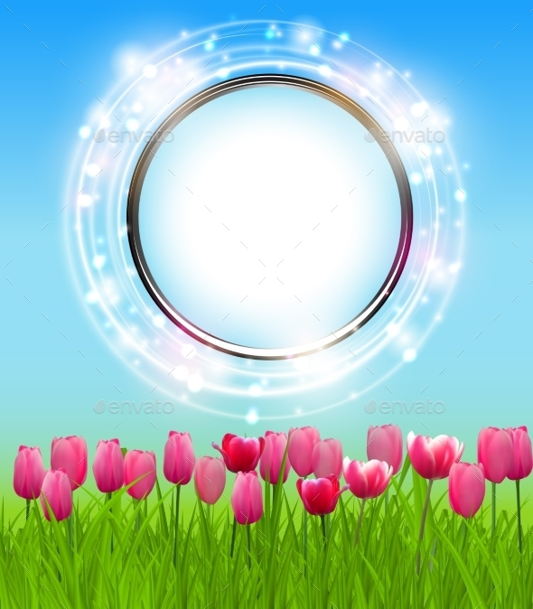 Spring Green Background. Vector Illustration - Flowers & Plants Nature