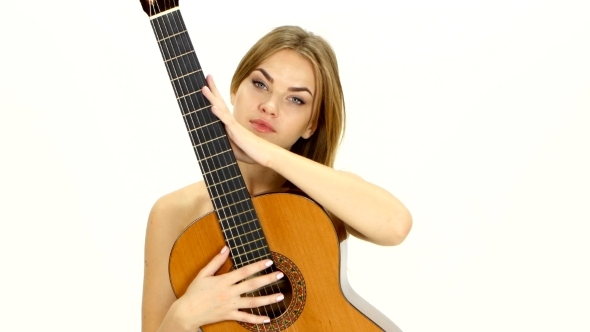 naked guitar girl