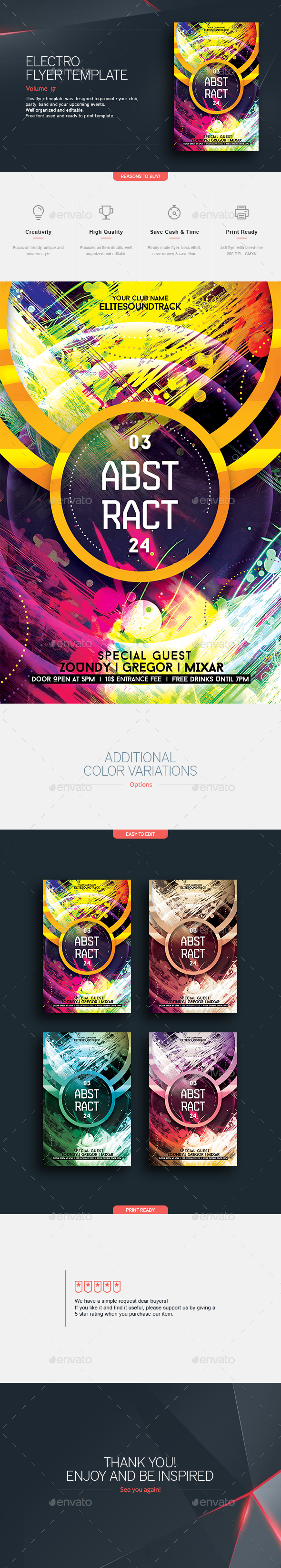 Abstract - Flyer Template - Clubs & Parties Events