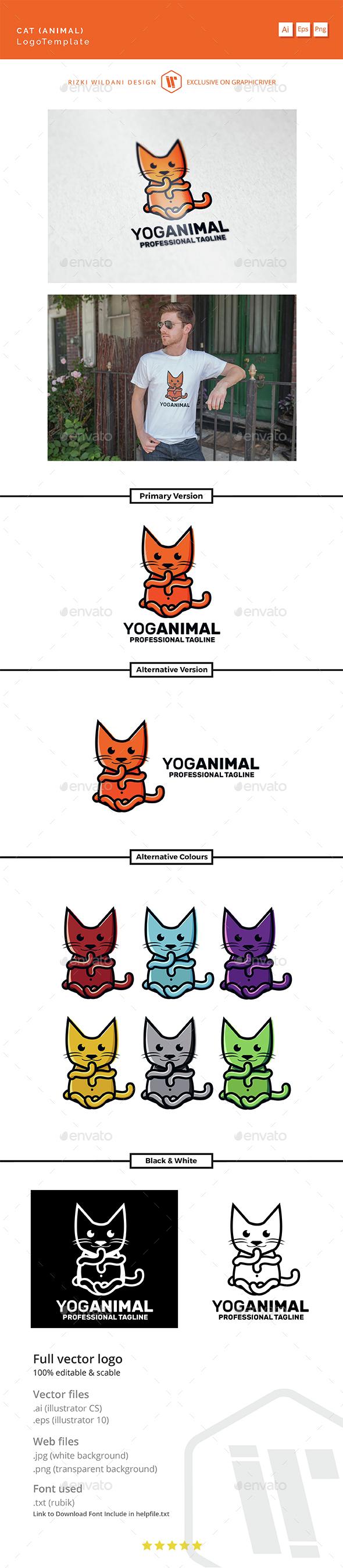 Yoganimal - Logo Cat Template - Animals Logo Templates