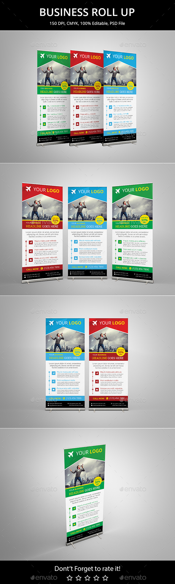 Business Roll Up Banner v4 - Signage Print Templates