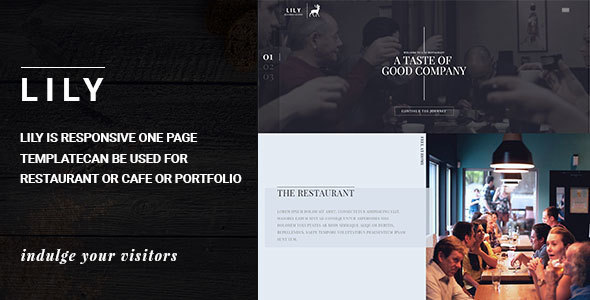 Lily | Responsive One Page Restaurant