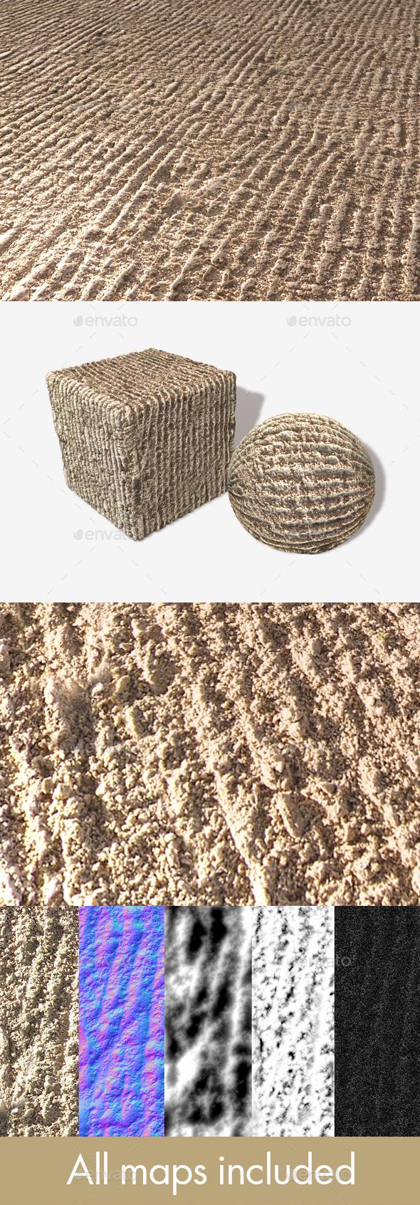 Raked Garden Sand Seamless Texture - 3DOcean Item for Sale