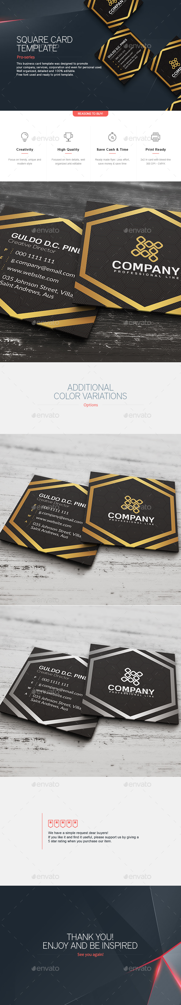 Square Business Card 7 - Corporate Business Cards