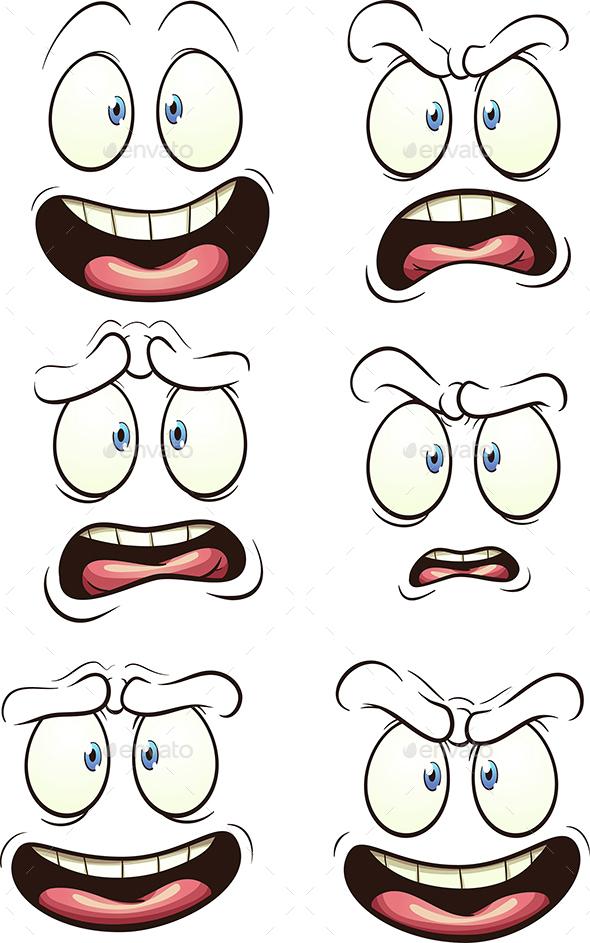 Cartoon Faces - Miscellaneous Vectors
