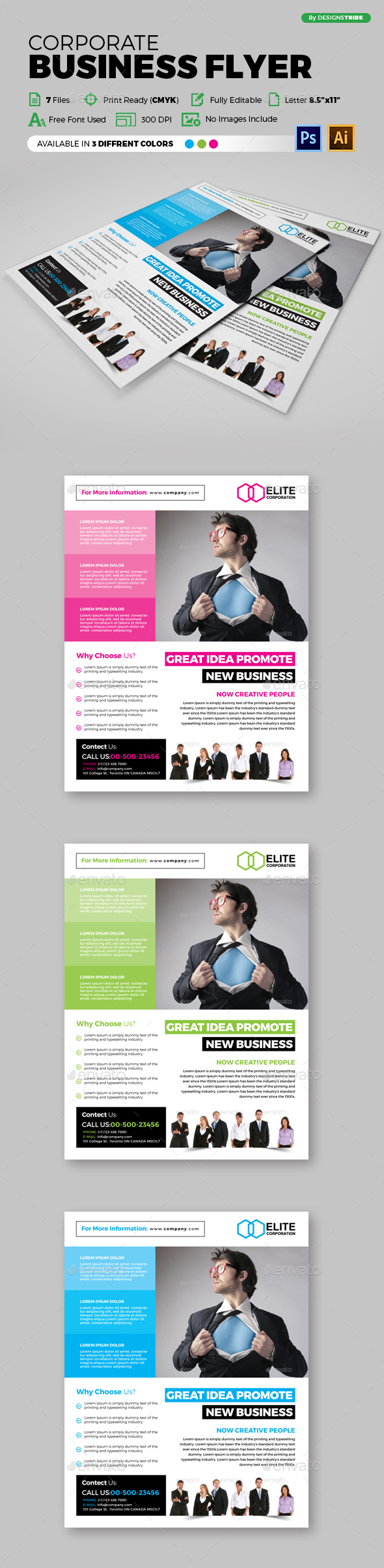 Flyer – Multipurpose 127 - Flyers Print Templates