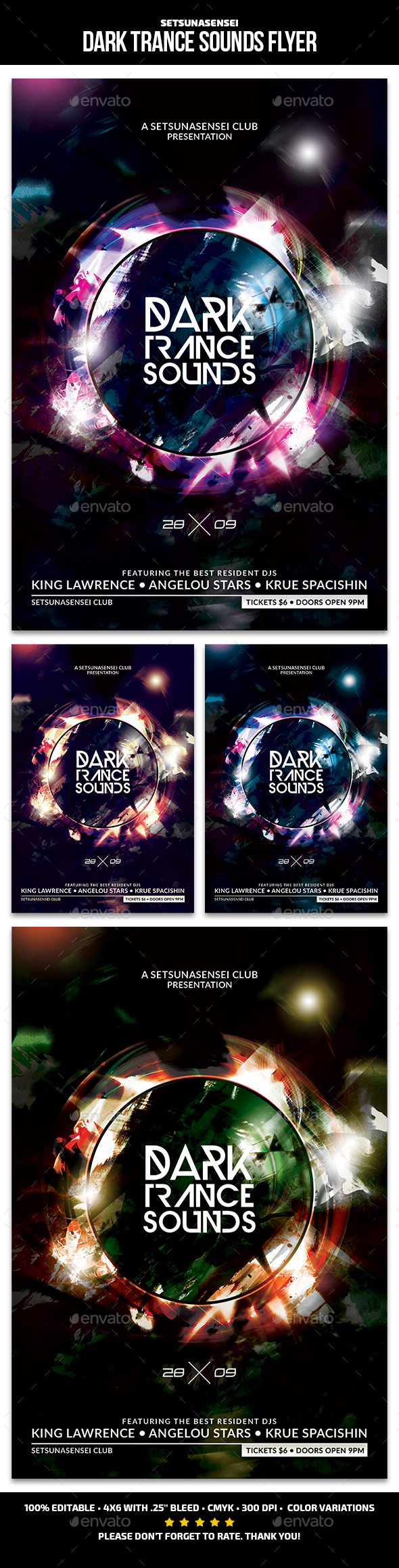 Dark Trance Sounds Flyer - Clubs & Parties Events
