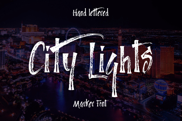City Lights Marker Font - Fonts