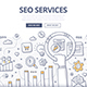 SEO Services Doodle Concept - GraphicRiver Item for Sale