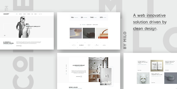 Concept – Design-Driven Multipurpose HTML5 Template