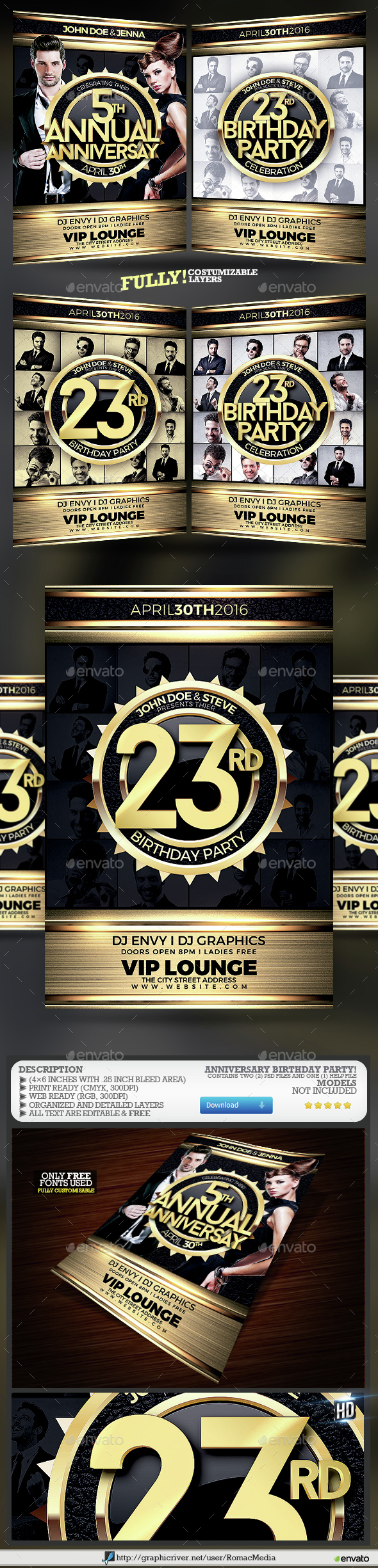 Anniversary Birthday Night Party - Clubs & Parties Events