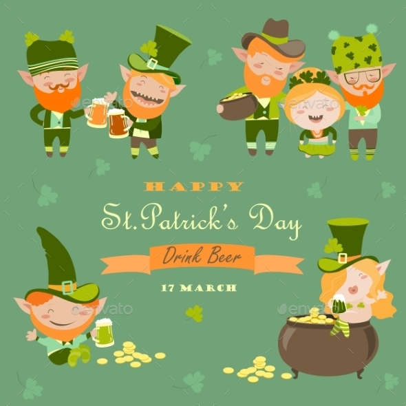 St. Partick Day With Leprechaun - Miscellaneous Seasons/Holidays