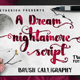 Nightamore Brush Calligraphy - GraphicRiver Item for Sale