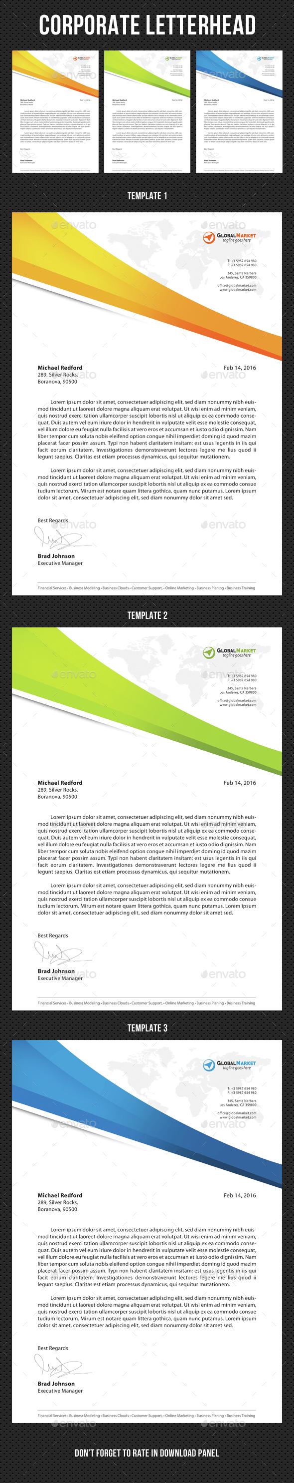 Corporate Letterhead v01 - Stationery Print Templates
