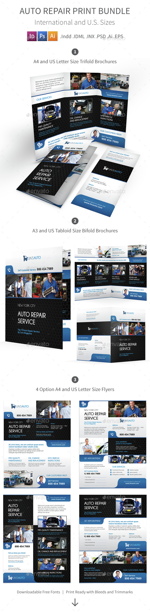 Auto Repair Print Bundle - Informational Brochures