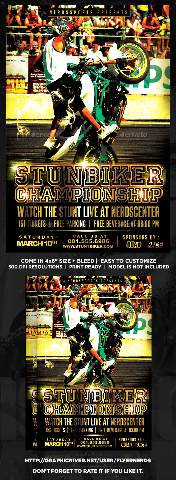 StuntBiker Championships Sports Flyer - Sports Events