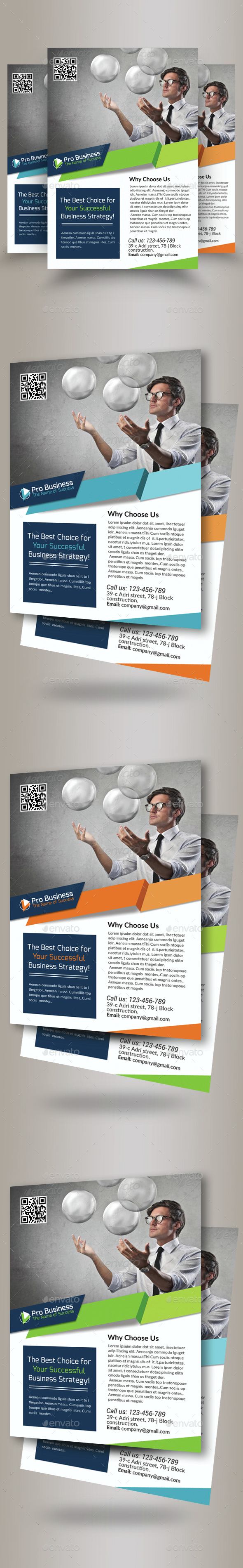 Business Solutions Consultant Flyer Template - Corporate Flyers