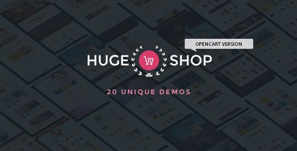 HugeShop - Wonderful Multi Concept Responsive OpenCart Theme