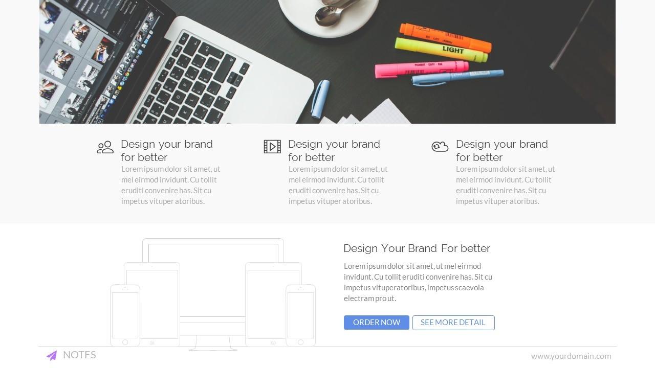 notes - business & webinar powerpoint templatemeemslide, Presentation templates