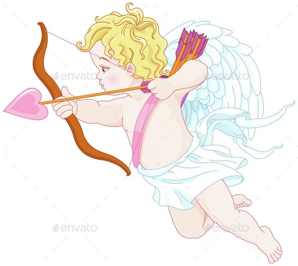 Cupid Shooting - Valentines Seasons/Holidays