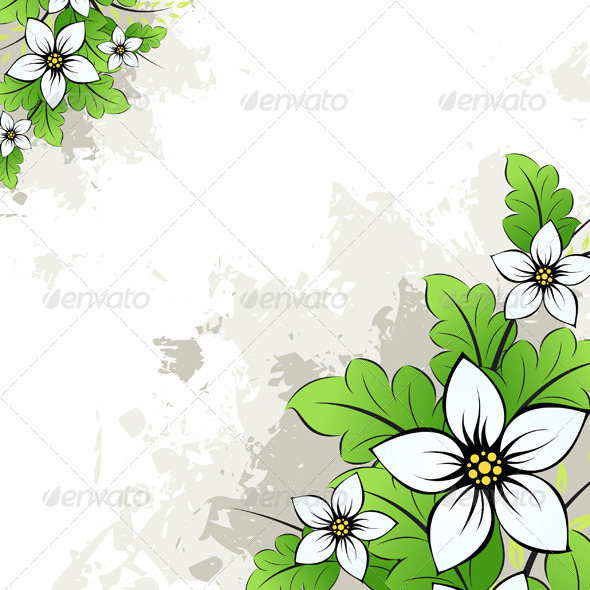 Grunge Floral Background - Backgrounds Decorative