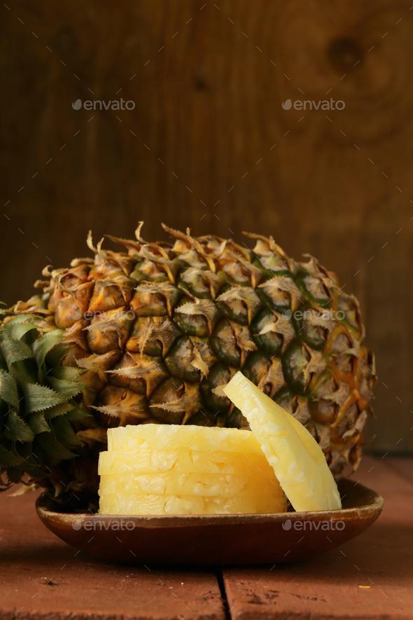 Dessert Pineapple Sliced - Stock Photo - Images